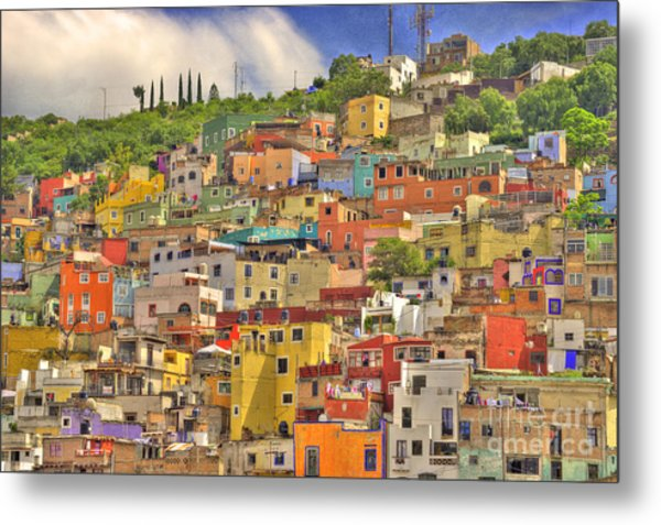 Guanajuato Hillside Metal Print