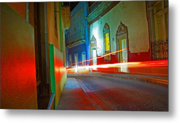 Metal Print featuring the photograph Guanajuato Night by Skip Hunt
