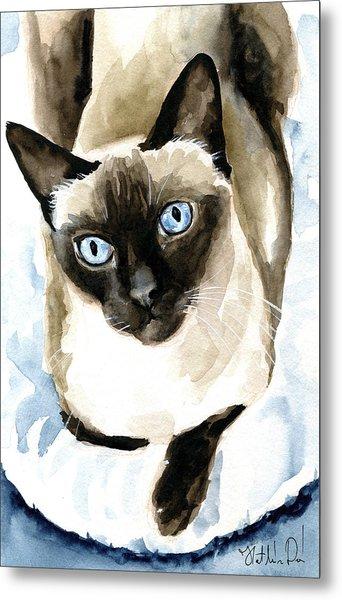 Guardian Angel - Siamese Cat Portrait Metal Print