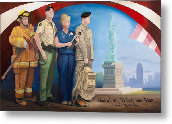 Guardians Of Liberty And Peace Metal Print by Michael Wilson