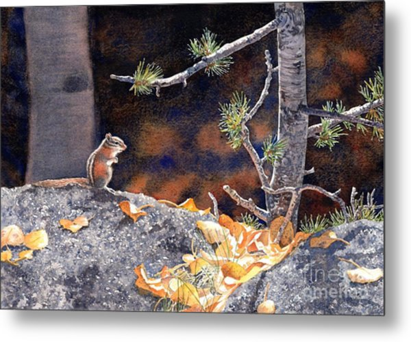 Guarding The Gold Metal Print by Lorraine Watry
