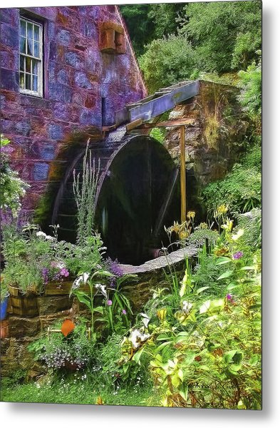 Guernsey Moulin Or Waterwheel Metal Print