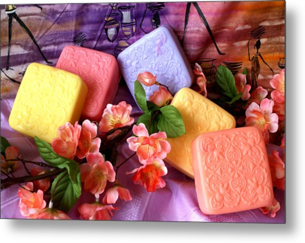 Guest Soaps Metal Print by Sonja Anderson