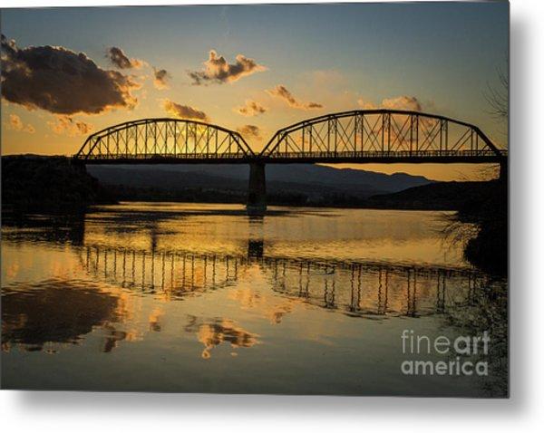 Guffey Bridge At Sunset Idaho Journey Landscape Photography By Kaylyn Franks Metal Print