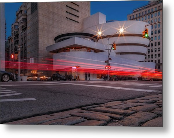 Metal Print featuring the photograph Guggenheim Museum Nyc  by Susan Candelario