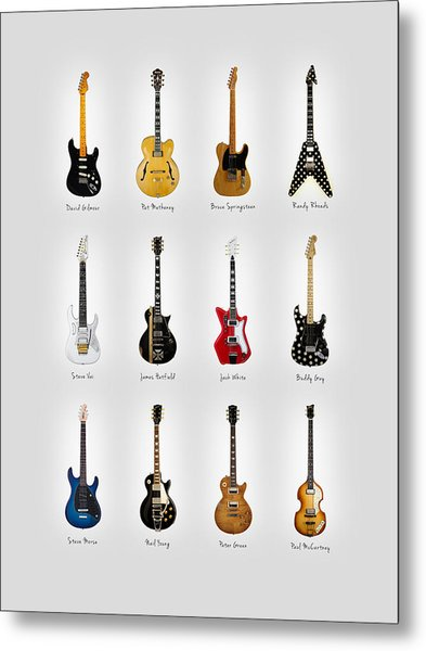Guitar Icons No2 Metal Print
