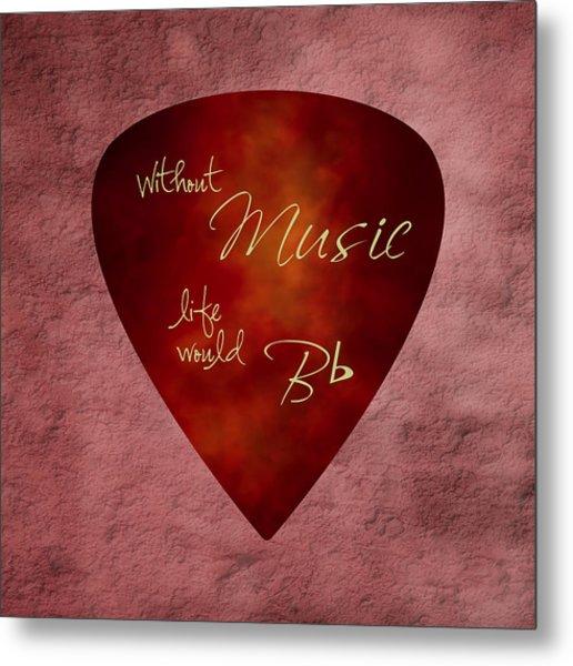 Guitar Pick - Without Music Metal Print