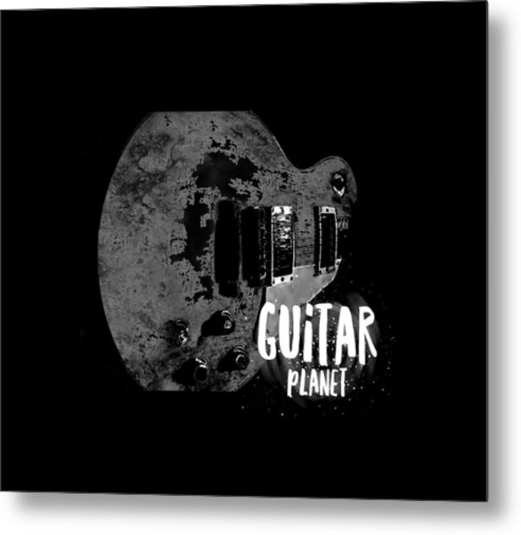Metal Print featuring the photograph Guitar Planet  by Guitar Wacky