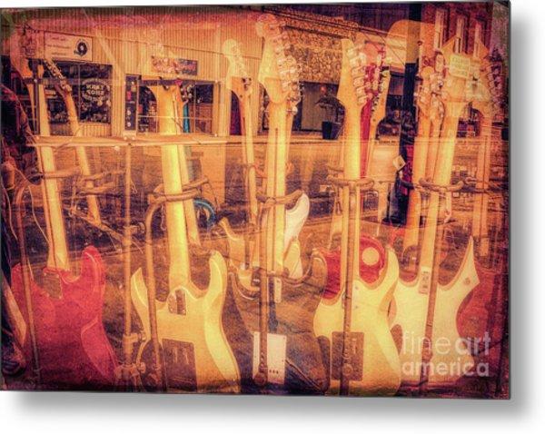 Guitar Reflections Metal Print