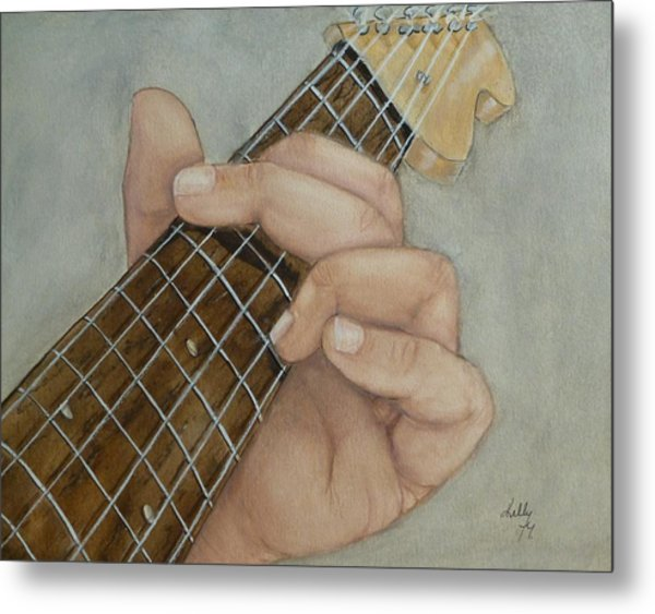 Guitar Strumming In 'g' Cord Metal Print