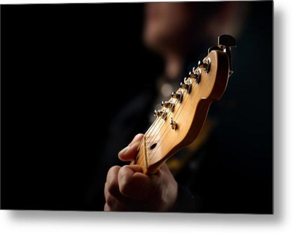 Guitarist Close-up Metal Print