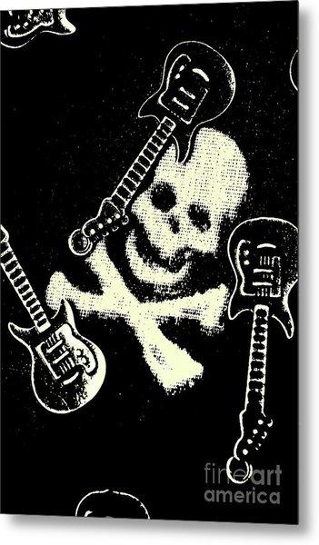 Guitars Of Black Metal Metal Print