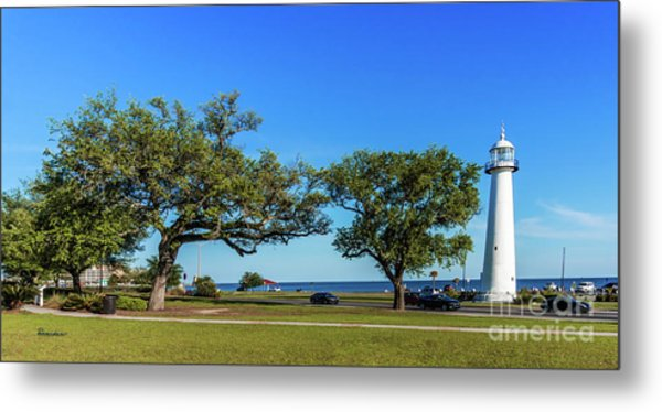 Gulf Coast Lighthouse Seascape Biloxi Ms 3663b Metal Print