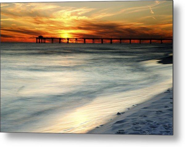 Gulf Coast Pier Metal Print