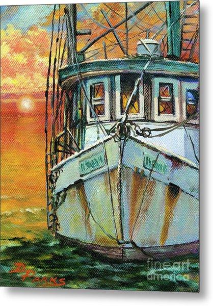 Gulf Coast Shrimper Metal Print