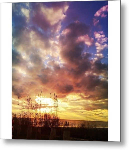Gulf Coast Sunset #clouds #sunset Metal Print