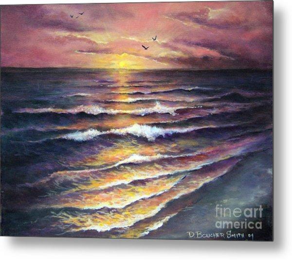 Gulf Coast Sunset Metal Print