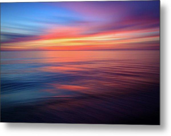 Gulf Coast Sunset Ocean Abstract Metal Print