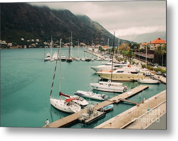 Gulf Of Kotor Metal Print