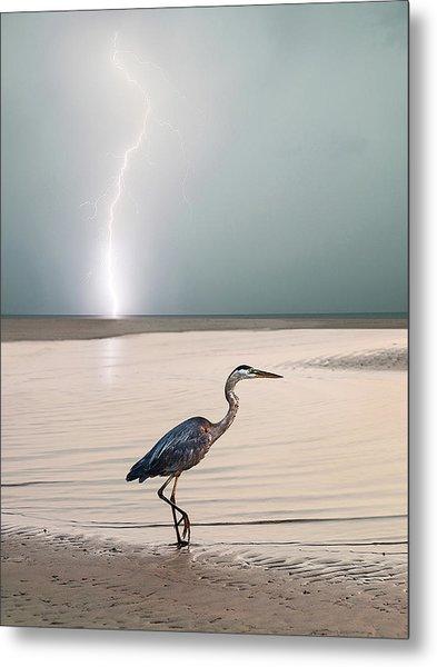 Gulf Port Storm Metal Print