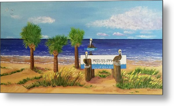 Gulf Shore Welcome Metal Print