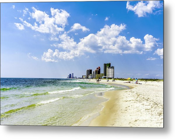 Gulf Shores Al Beach Seascape 1746a Metal Print