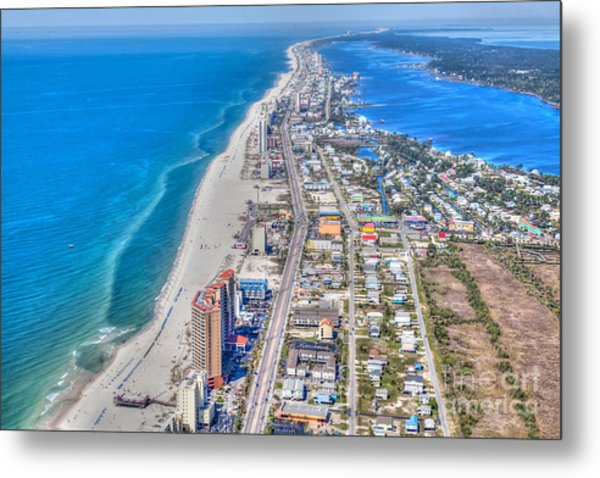 Gulf Shores Beach Looking W Metal Print