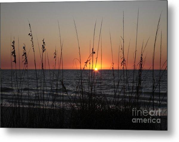 Gulf Sunset In Florida Metal Print