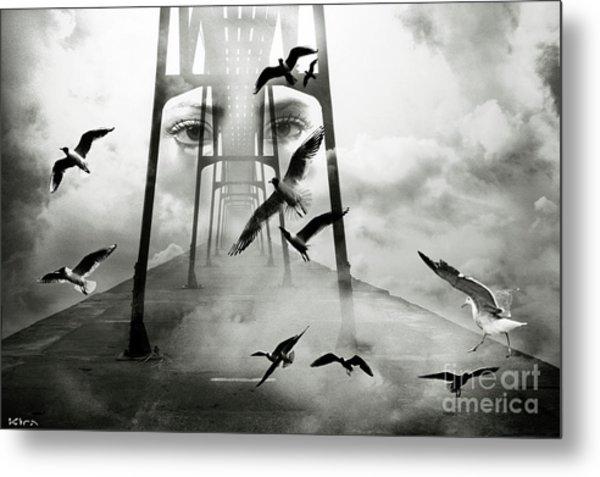 Gull Bridge Metal Print