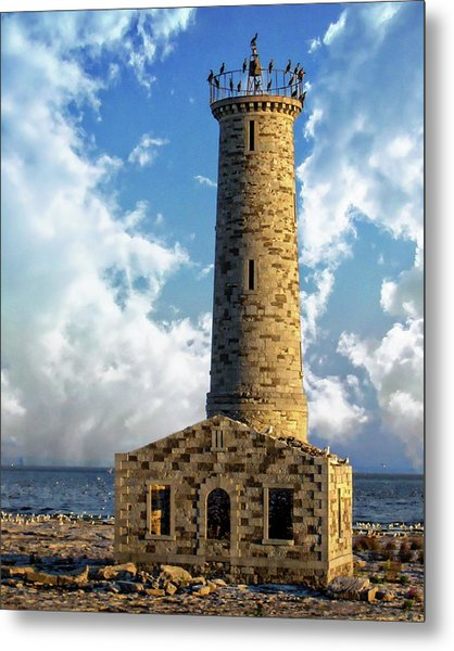 Gull Island Lighthouse Metal Print