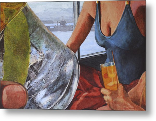Gulp Metal Print by Perry Woodfin