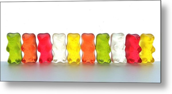 Gummy Bears In A Row Metal Print