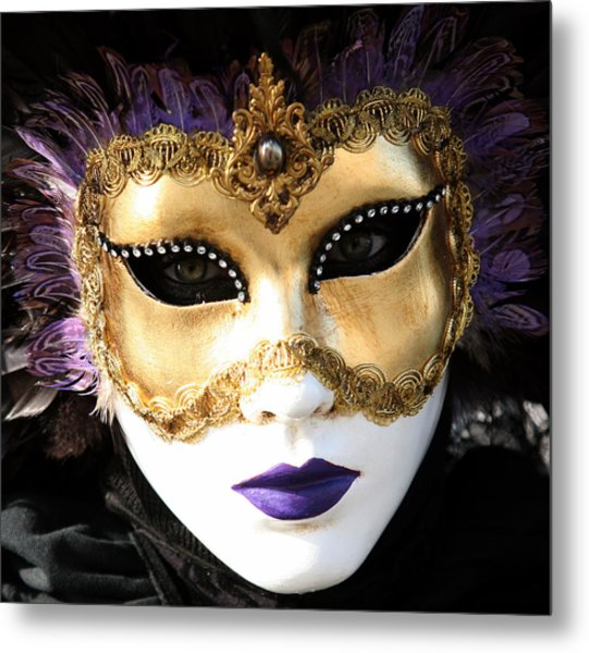 Gunilla Maria's Purple Feathers Metal Print