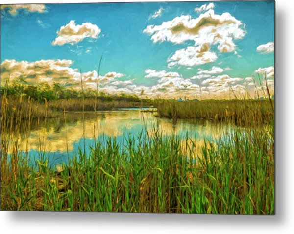Gunnel Oval By Paint Metal Print