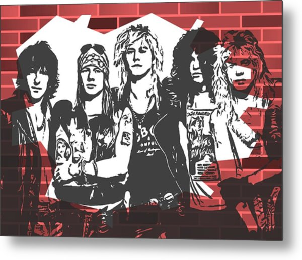 Guns N Roses Graffiti Tribute Metal Print
