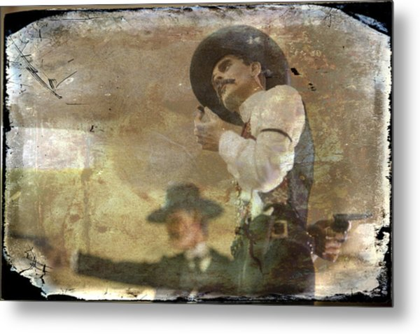 Gunslinger II Doc Holliday Metal Print