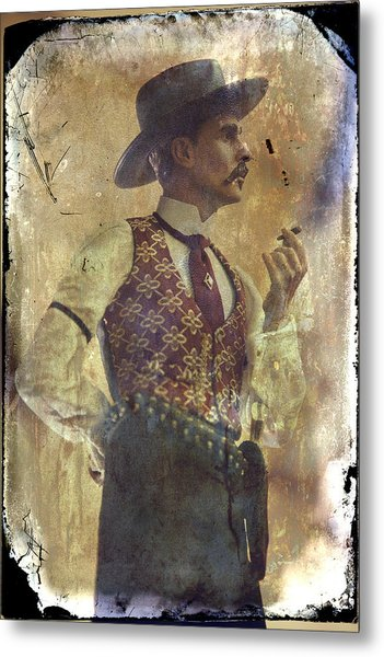 Gunslinger IIi Doc Holliday In Fine Attire Metal Print