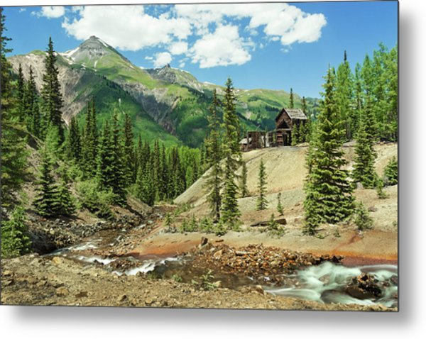 Metal Print featuring the photograph Gustan Mine by Angela Moyer