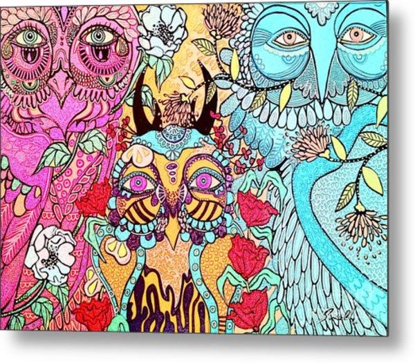 Gypsy Owl Metal Print