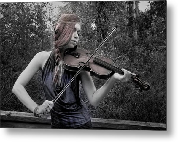 Gypsy Player II Metal Print