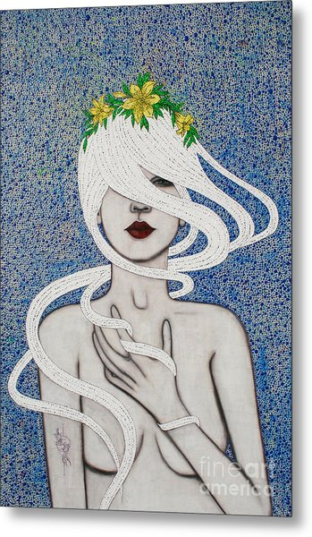 Metal Print featuring the mixed media Gypsy Soul by Natalie Briney