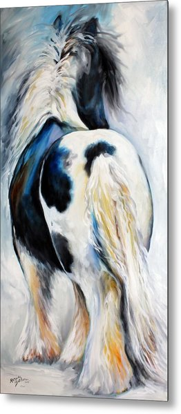 Gypsy Vanner Modern Abstract Metal Print by Marcia Baldwin