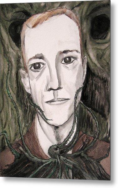 H P Lovecraft Metal Print by Darkest Artist