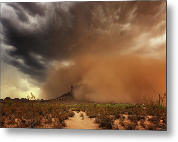 Metal Print featuring the photograph Haboob Is Coming by Rick Furmanek