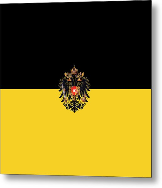 Metal Print featuring the digital art Habsburg Flag With Imperial Coat Of Arms 3 by Helga Novelli