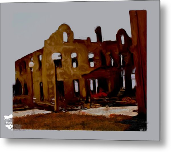Hacienda Mission Metal Print by Maribel McIntosh