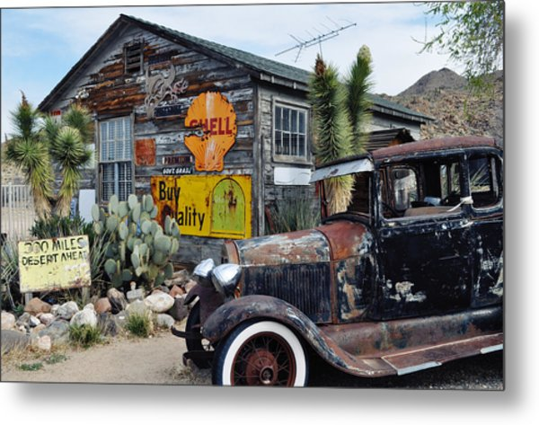 Hackberry Route 66 Auto Metal Print
