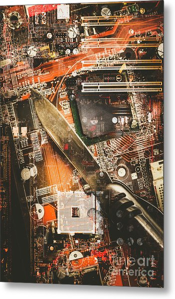 Hacking The System Metal Print