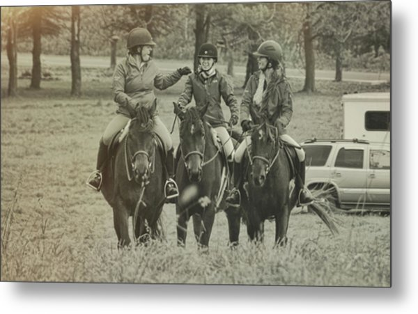 Hacking Triplets Metal Print by JAMART Photography