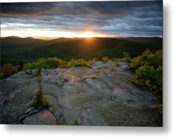 Hadley Mountain Sunset Metal Print